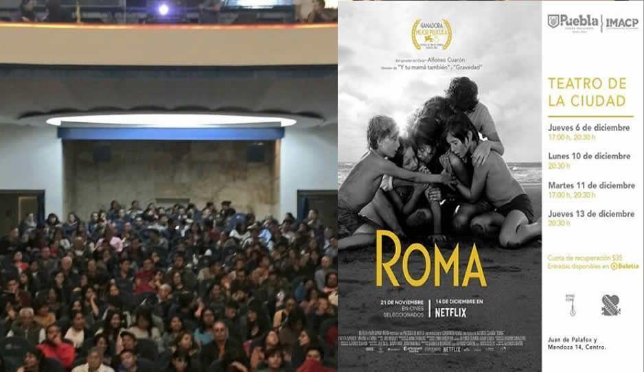 #AlertSpoiler: Inicia la proyección de Roma en Puebla, que no te la vayan a contar