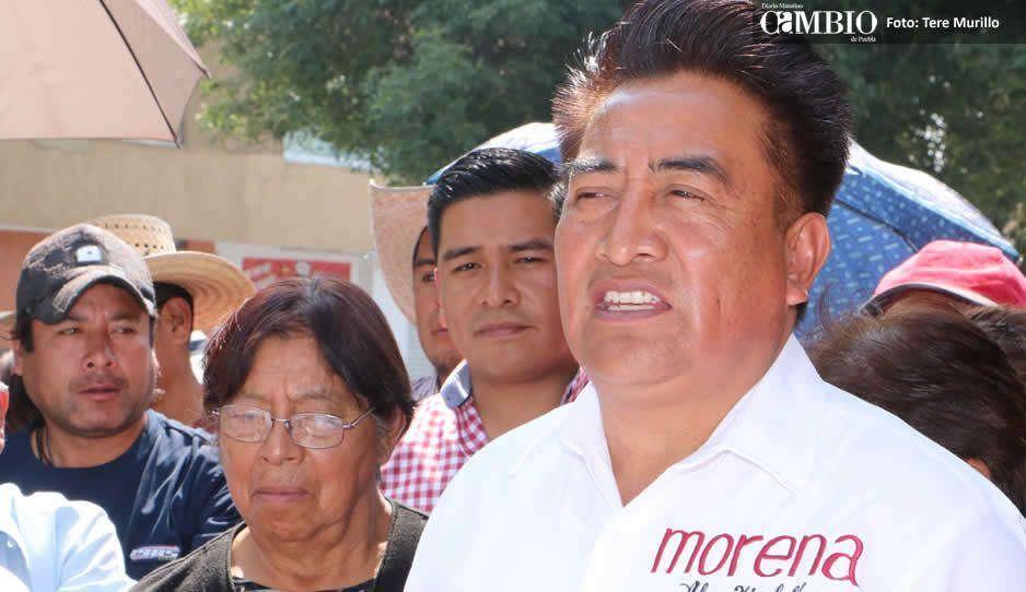 Morenistas de Cholula protestan por dedazos en designación de candidatos