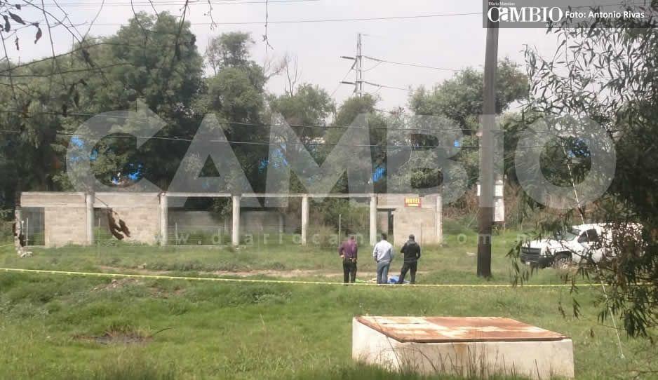 Aún sin identificar cadáver hallado con narcomensaje en San Miguel Xoxtla