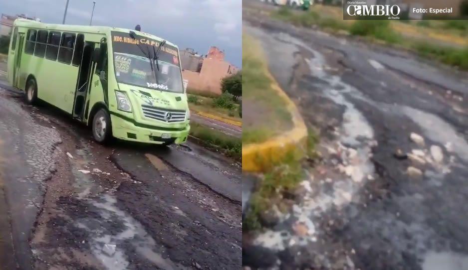Ciudadana denuncia pésimas condiciones del Circuito Nuestra Señora de Guadalupe