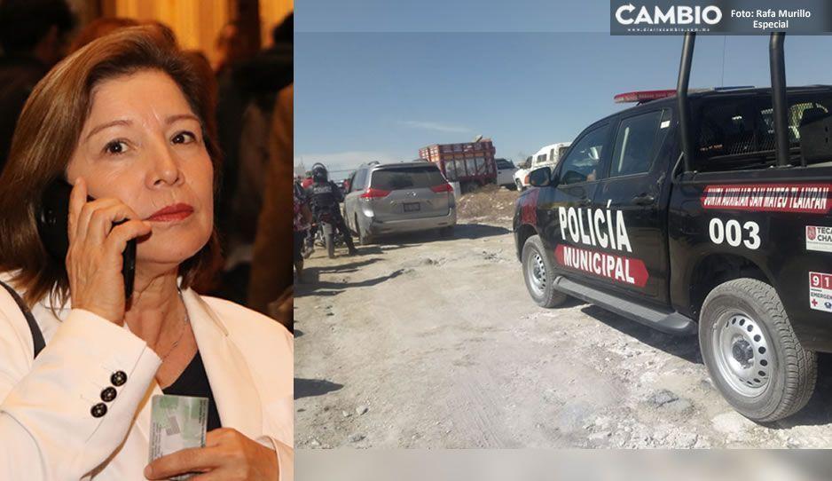 Alcaldesa de Tecamachalco utiliza a policías como guardaespaldas mientras ejecuciones van en aumento (FOTOS)