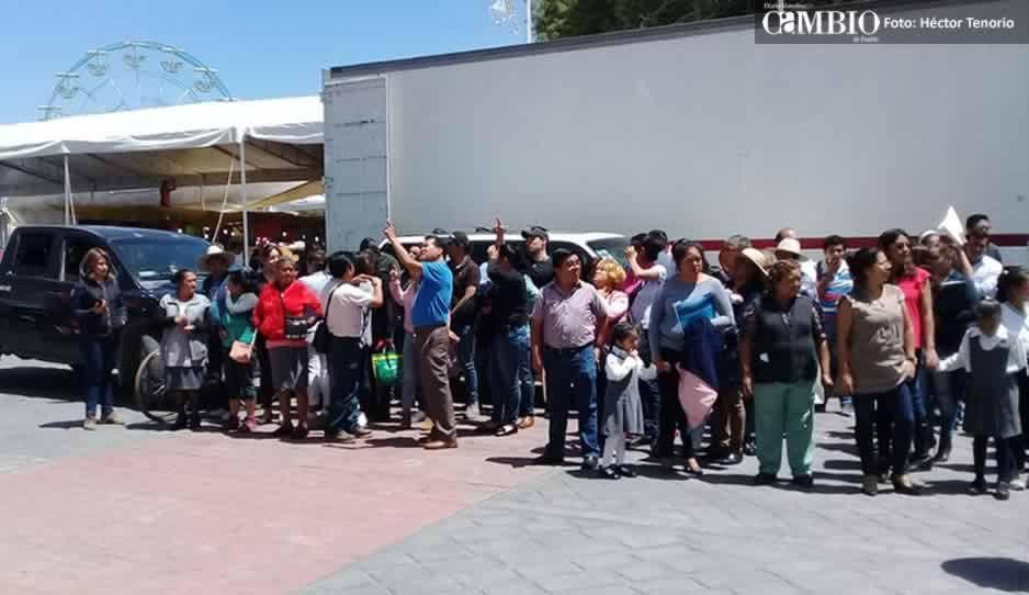 Poca participación en macrosimulacro que se realizó en Huejotzingo (FOTOS y VIDEO)