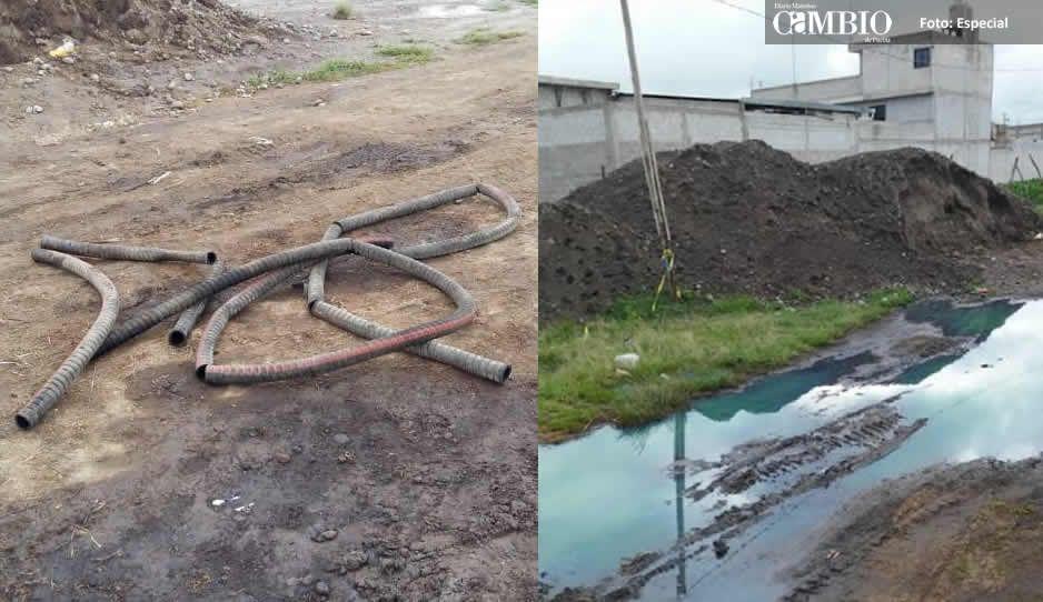 Otro derrame de combustible en Texmelucan, ahora en Atoyatenco