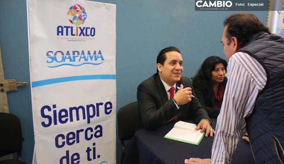 SOAPAMA se suma al Miércoles Ciudadano para fortalecer atención pública en Atlixco