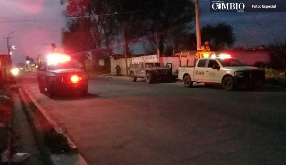 Continúan los operativos en Texmelucan, ahora por parte de Pemex y el Ejército