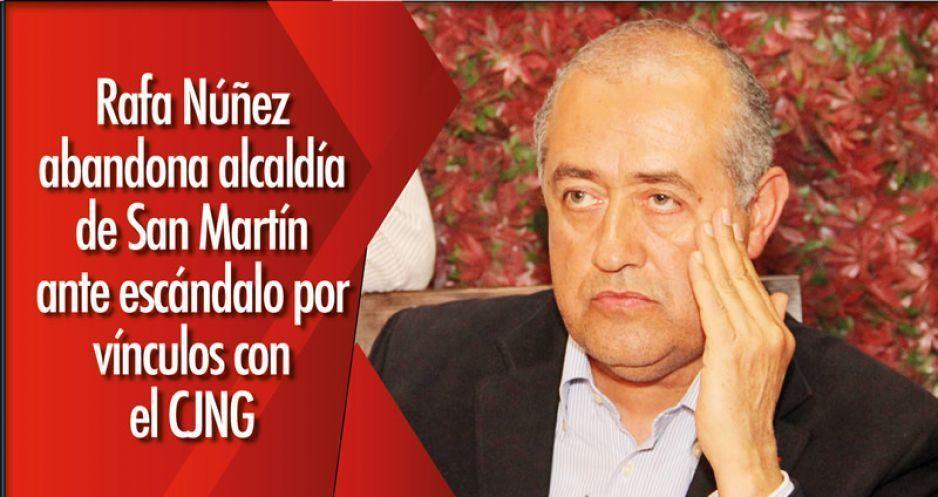 Rafa Núñez abandona alcaldía de San Martín ante escándalo por vínculos con el CJNG (VIDEO)