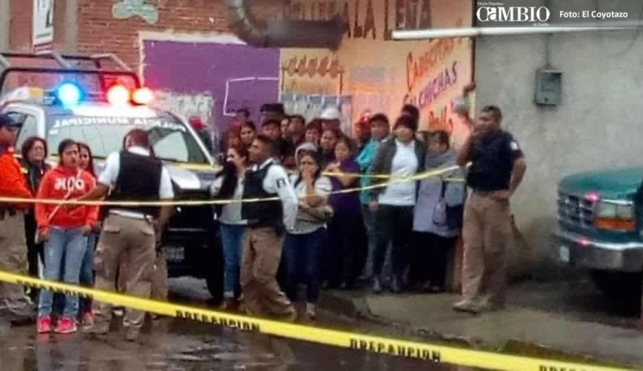 A balazos matan a sujeto al interior de una carnicería en San Pedro Cholula