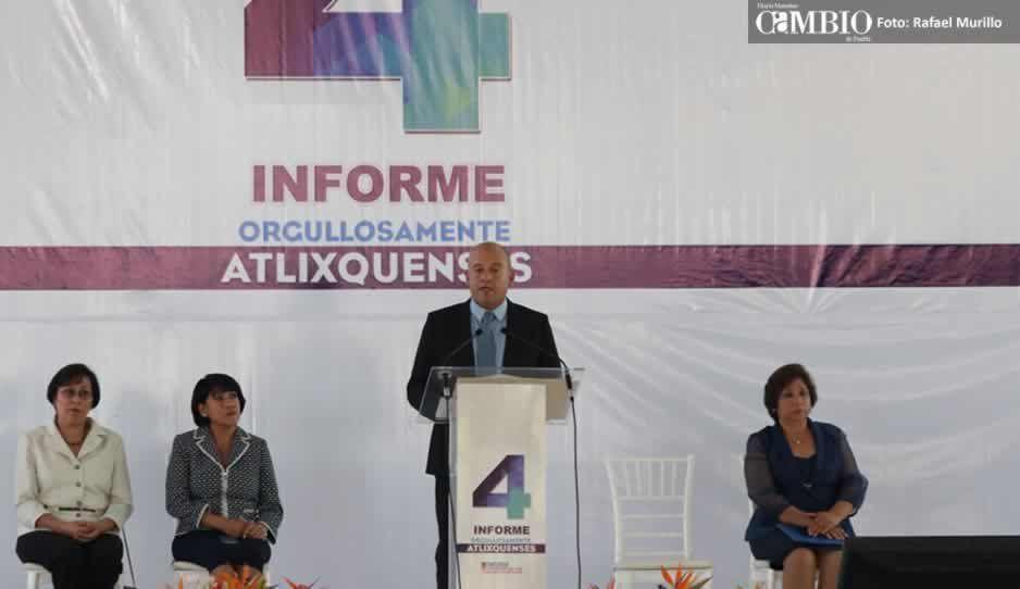 Edil de Atlixco anuncia creación de la Plazuela del Productor y plantas de tratamiento durante informe