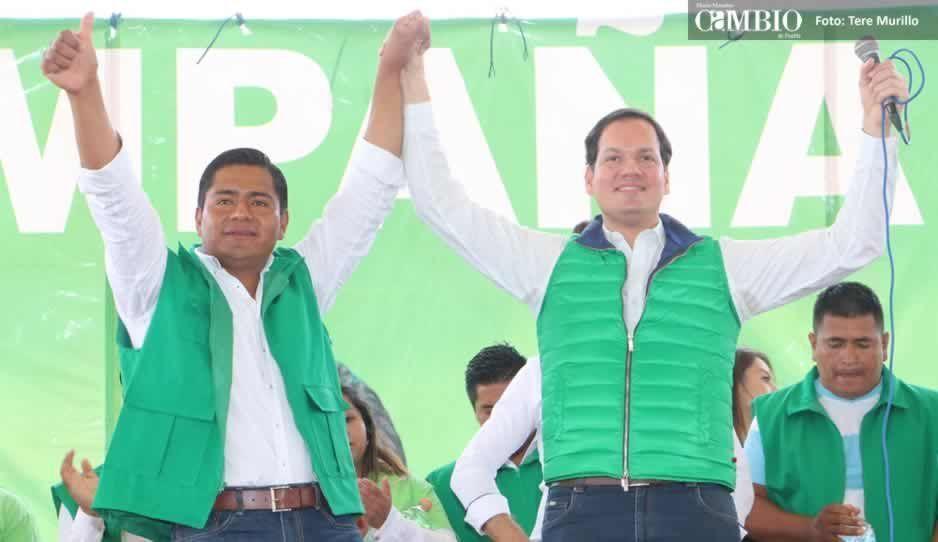 Marco Juárez inicia campaña en Ocoyucan acompañado de Juan Pablo Kuri