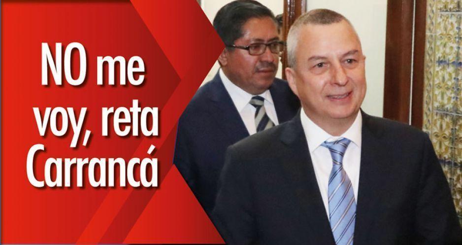 AUDIO: NO me voy, reta Carrancá