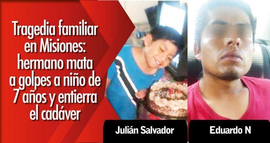 Tragedia familiar en Misiones: hermano mata a golpes a niño de 7 años y entierra el cadáver
