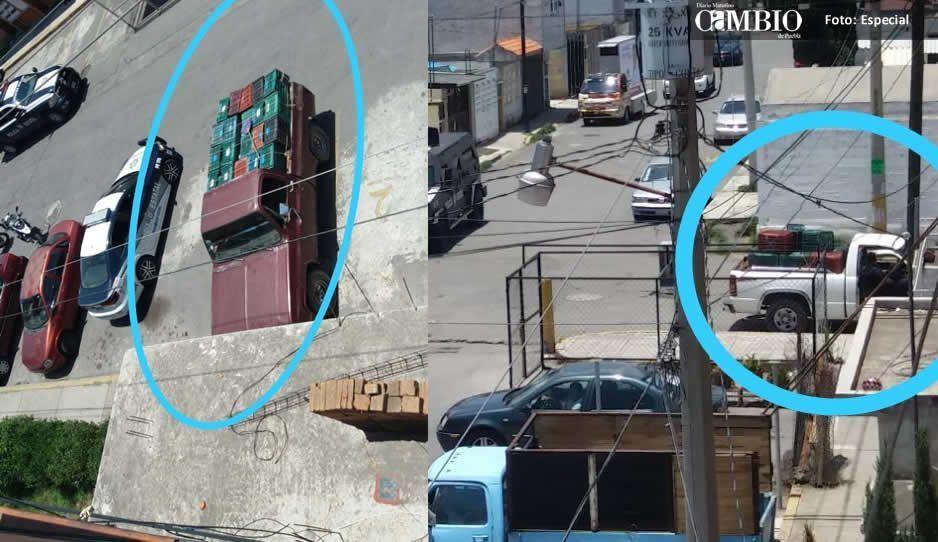 Policía estatal asegura unidades ligadas al trasiego de combustible en la Purísima