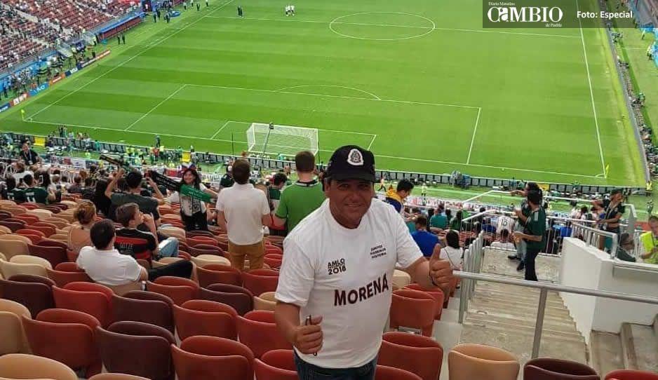 Villarroel abandona su campaña en Atlixco  para irse  a Rusia al México-Alemania
