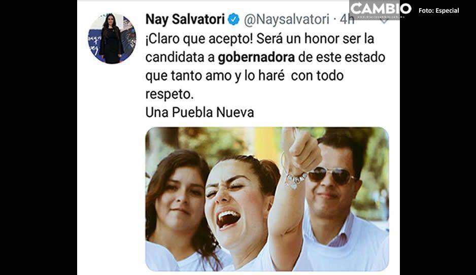 ¿Te agrada? Nay Salvatori se apunta para ser candidata al gobierno de Puebla