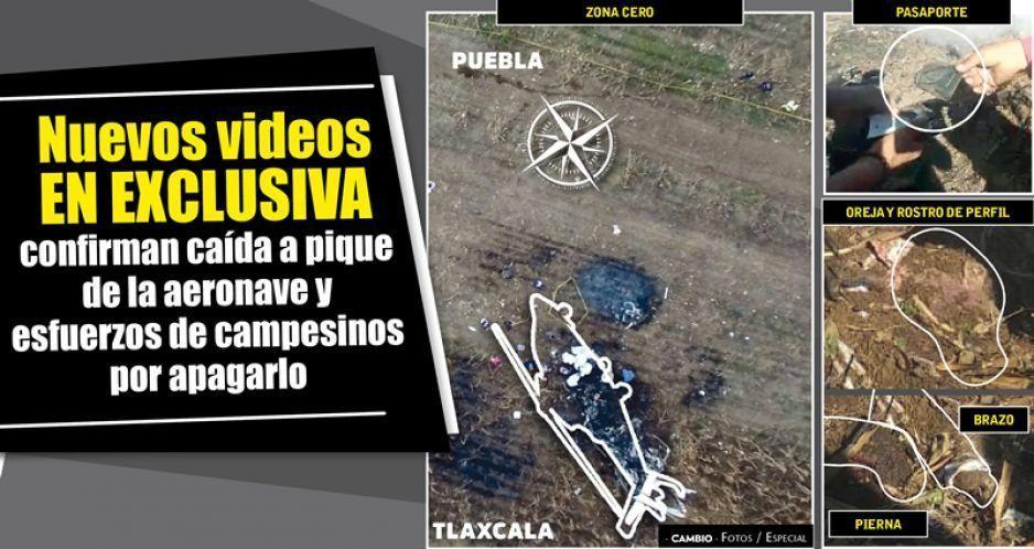 Nuevos videos en exclusiva confirman caída a pique de la aeronave y esfuerzos de  campesinos por apagarlo