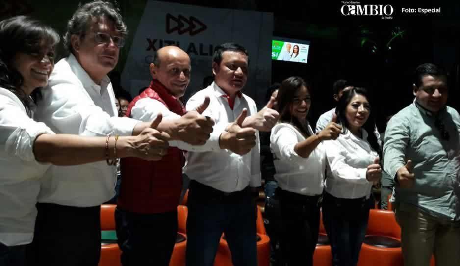 Acompañados por Osorio Chong, candidatos priistas a diputados y senadores inician campaña en Atlixco