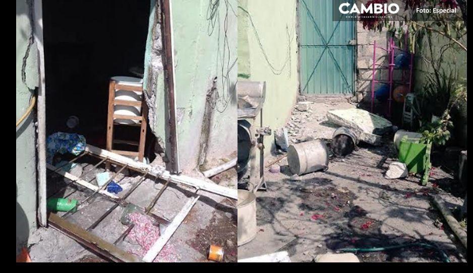 Explota cilindro de gas en Quecholac: deja 5 heridos, entre ellos menores de edad