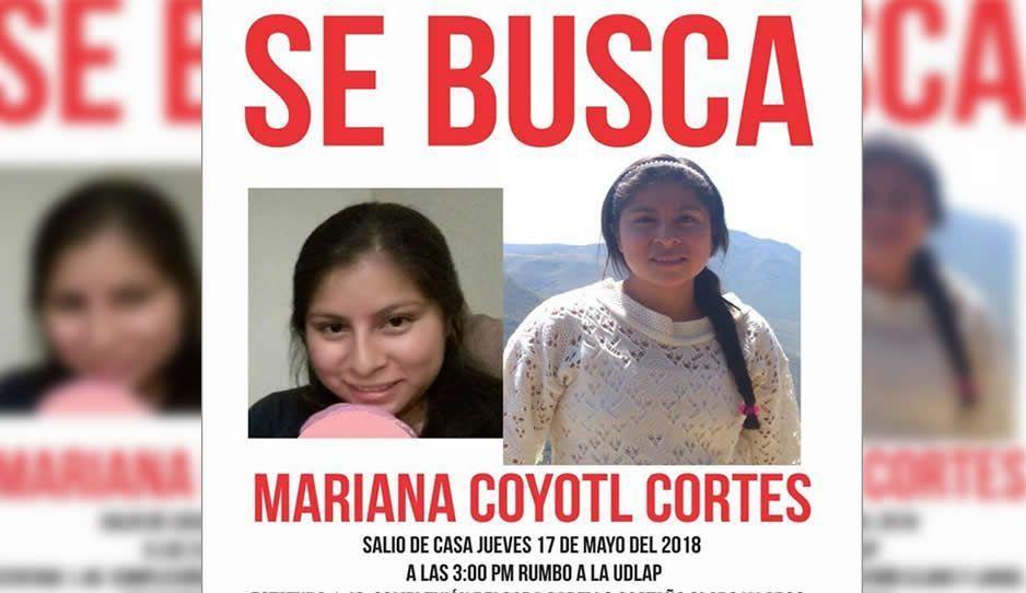 Buscan a Mariana Coyotl, desaparecida en Puebla ¡Ayúdanos a encontrarla!