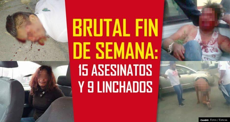 Brutal fin de semana: 15 asesinatos y 9 linchados