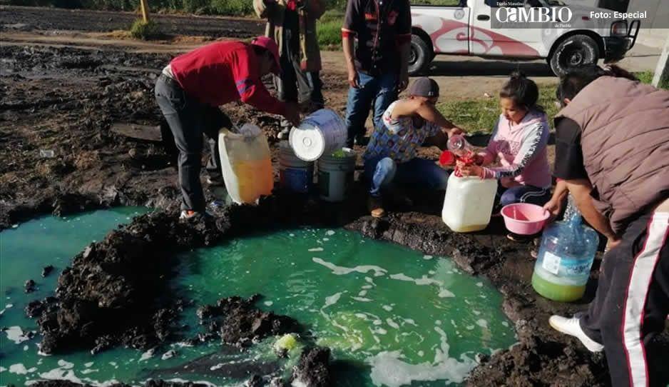 Fuga de combustible provoca rapiña en comunidad de Texmelucan