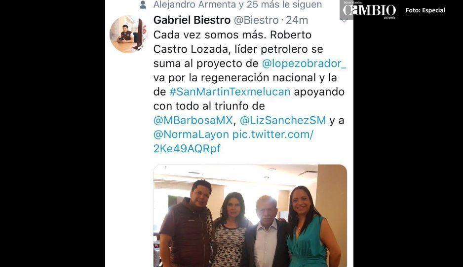 Reclaman a Biestro por foto con ex líder petrolero Castro Lozada de Texmelucan