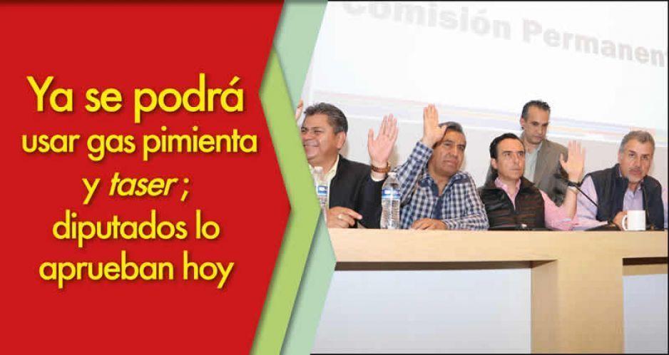 Aprueban diputados de Puebla reforma que legaliza el uso de gas pimienta