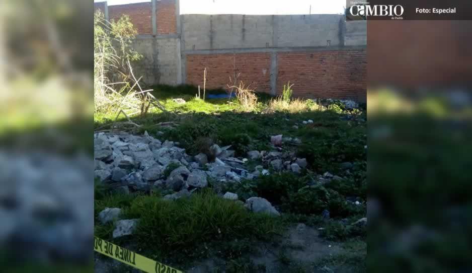 Localizan el cadáver de un hombre en terreno baldío de Huejotzingo