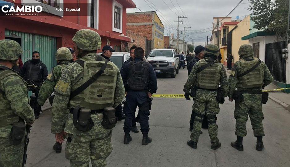 Balacera en huachialmacén provoca  horas de terror en San Martín