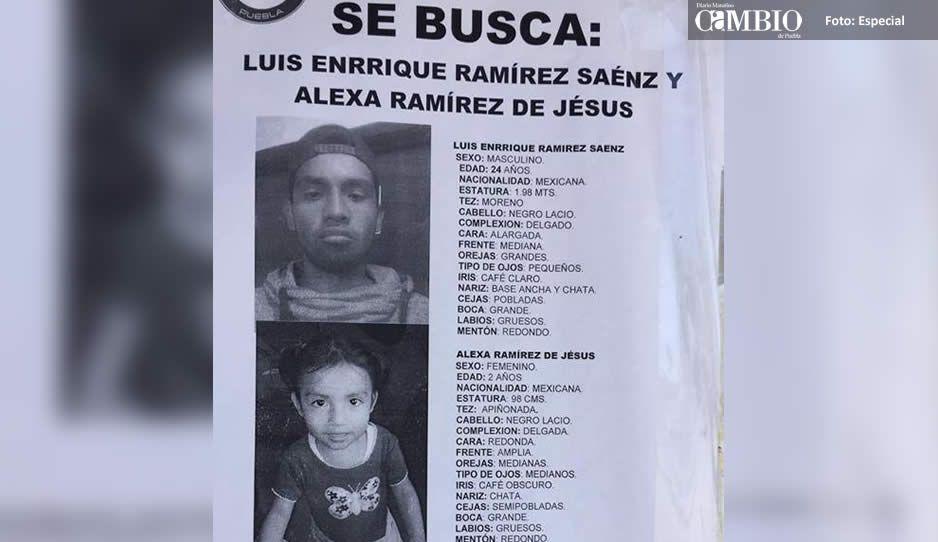 ¡Ayuda a encontrarlos! Desaparecen padre e hija, Luis Enrique de 24 y la pequeña Alexa de 2 años