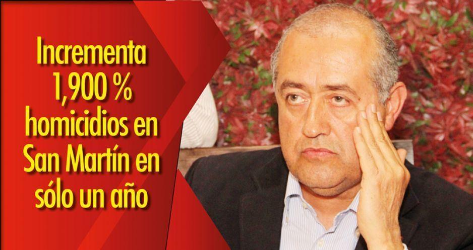Incrementa 1,900 % homicidios en San Martín en sólo un año