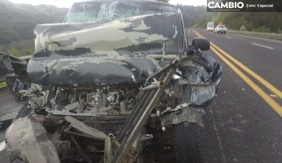 Mueren dos militares en accidente carretero