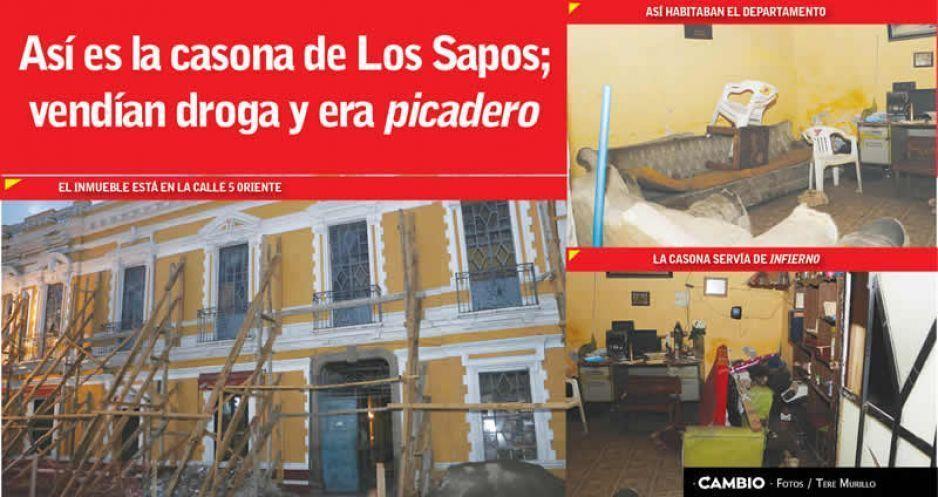 Así es la casona de Los Sapos; vendían droga y era picadero