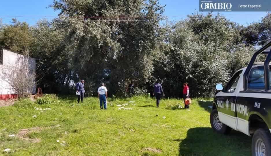 Localizan el cuerpo de un hombre en barranca de Huejotzingo
