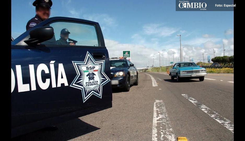 Atacan a balazos a policías federales en la Puebla-Orizaba
