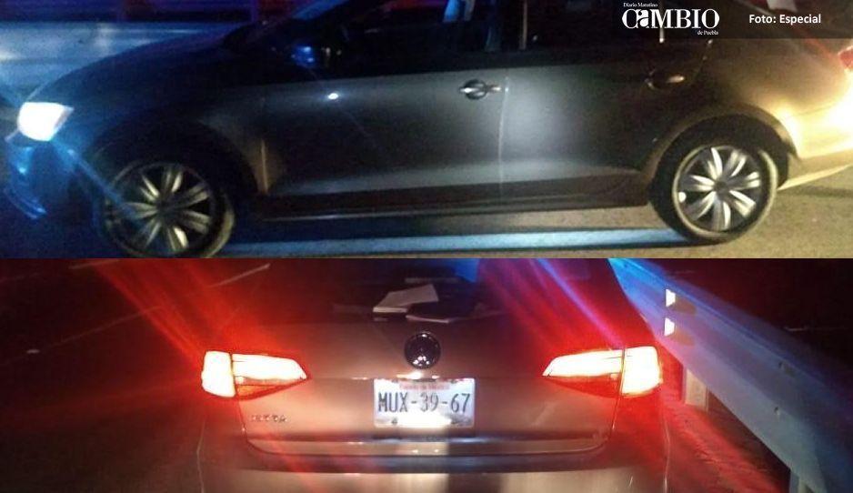 Federales detienen a sujeto con vehículo robado en Huejotzingo