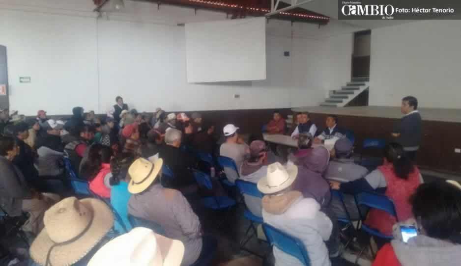 Pobladores de Calpan protestan por instalación de gasera
