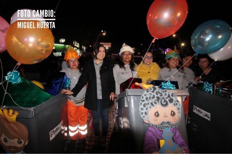 Claudia Rivera encabeza raquítico desfile de Reyes