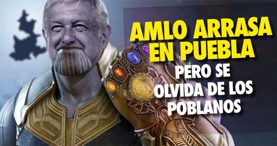 AMLO arrasa en Puebla pero se olvida de los poblanos