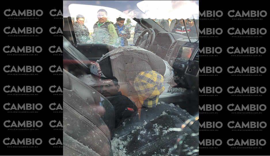 Comando armado rafaguea a un hombre en Los Reyes de Juárez (FOTOS)