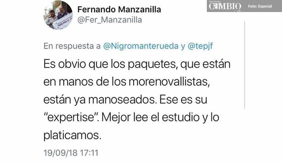 Descalifica Manzanilla el conteo total: paquetes ya están manoseados