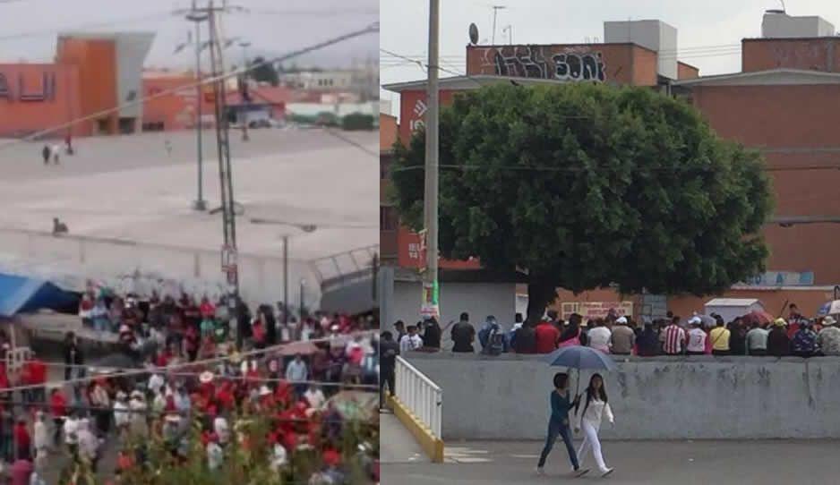 Antorchistas provocan caos en Agua Santa, invaden calles de ambulantaje