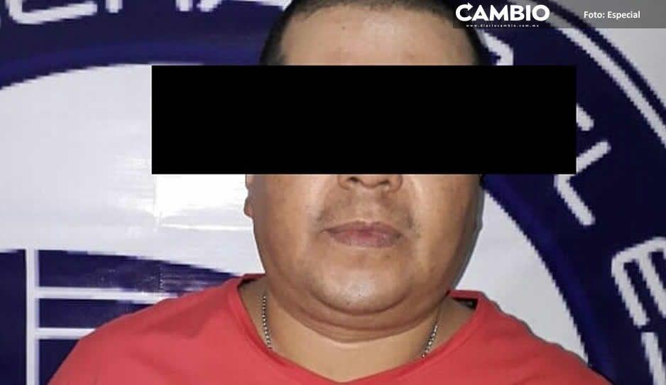 Detienen al Pelón, líder huachicolero de Huejotzingo