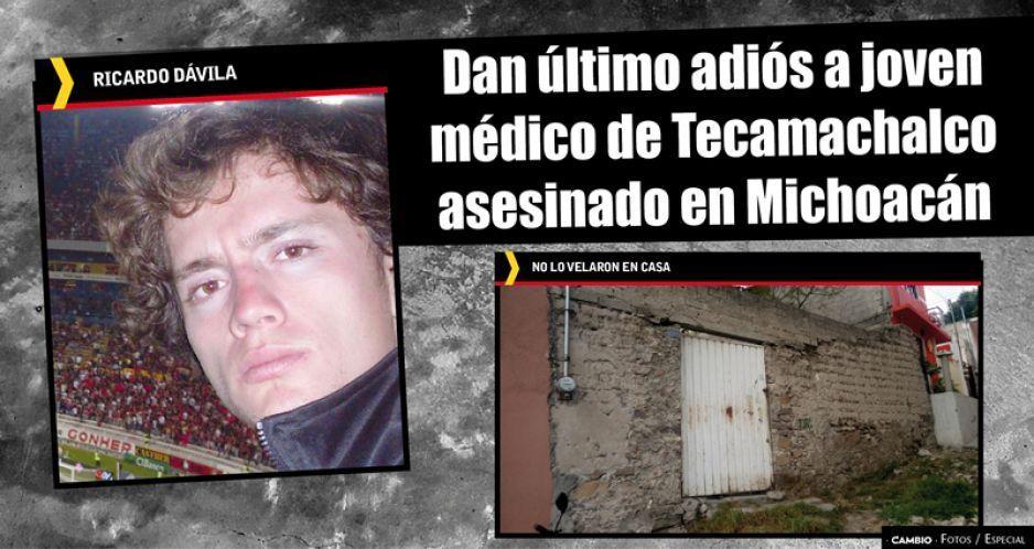 Dan último adiós a joven médico de Tecamachalco asesinado en Michoacán