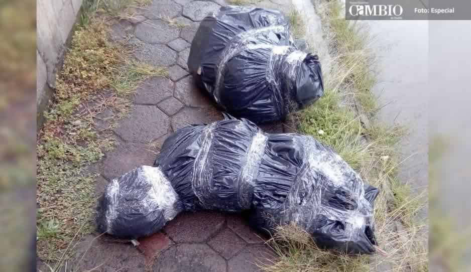 Movilizan a la policía de Cholula por presuntos embolsados, pero era basura