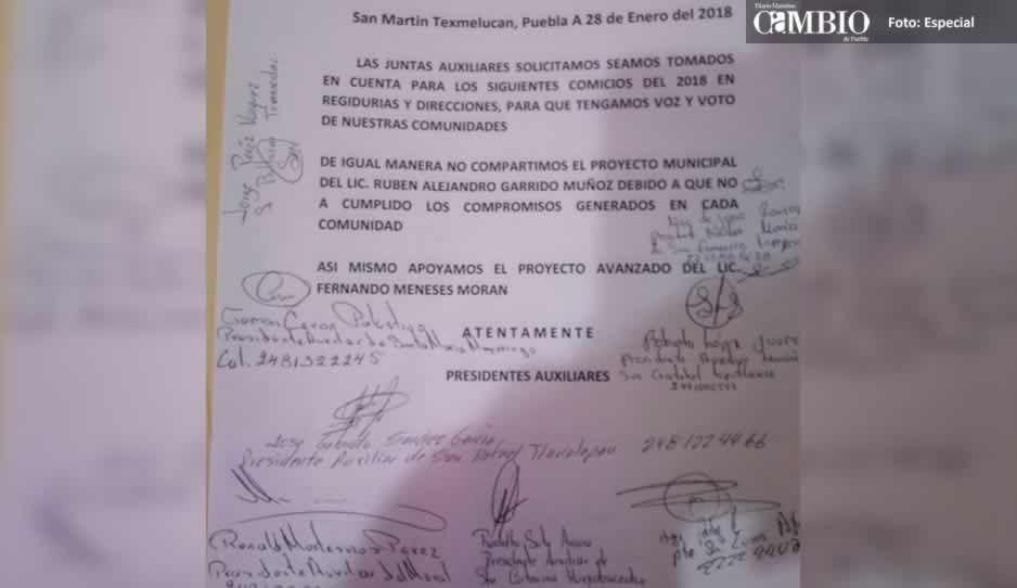 Ediles auxiliares de Texmelucan le dan la espalda a diputado chapulín