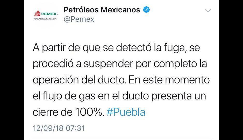Cinco horas después de explotar la toma, Pemex reaccionó parar cerrar el ducto