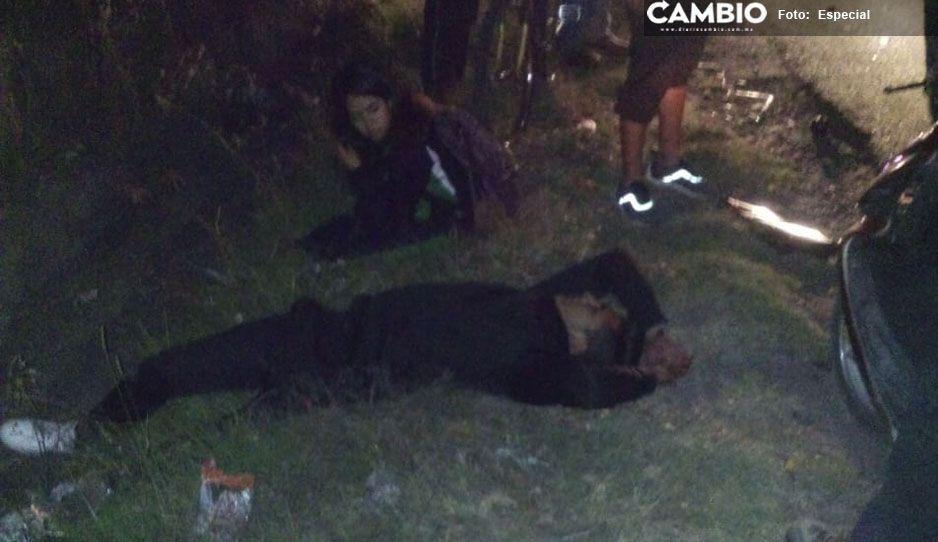 Borracho se salva de ser linchado por atropellar a varias personas en Texmelucan (VIDEO)
