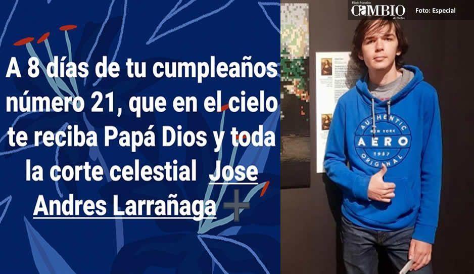 José Andrés Larrañaga era amante de las motos y cumpliría 21 años el 12 de octubre