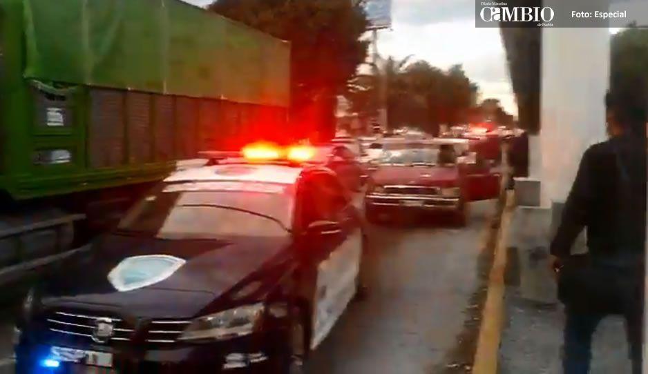 BENDITO TRÁFICO: ratero abandona camioneta que robó para huir