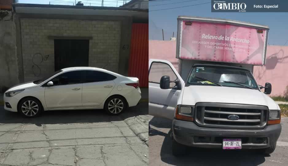Policías recuperan dos unidades con reporte de robo en Texmelucan